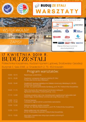 Warsztaty Politechnika Koszalińska Program